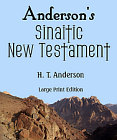 Anderson's Sinaitic New Testament (Large Prnt)