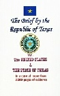 Brief by the Republic of  Texas vs. The United States (book and disk)