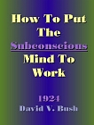 How to Put the Subconscious Mind to Work LARGE PRINT COMB-BOUND
